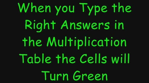 Thumbnail for entry Free Excel Multiplication Game