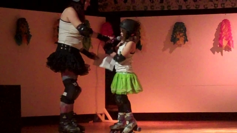 Thumbnail for entry Mariposa Roller derby with mom Integrated Arts Academy