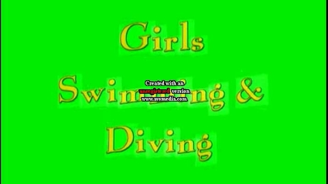Thumbnail for entry Girls Swimming 09