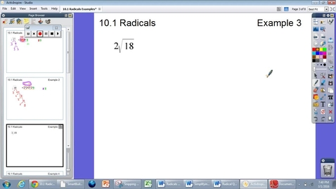 Thumbnail for entry 10.1 Radicals Example #3