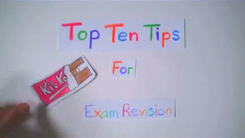 Thumbnail for entry Revising For Exams - Top Ten Tips