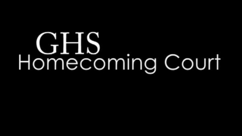 Thumbnail for entry 2011 Homecoming Candidate