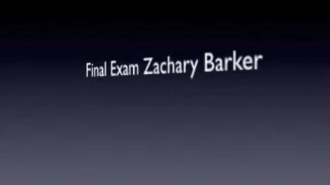 Thumbnail for entry Final Exam Zachary Barker