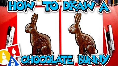 Thumbnail for entry How To Draw A Chocolate Easter Bunny #stayhome and draw #withme