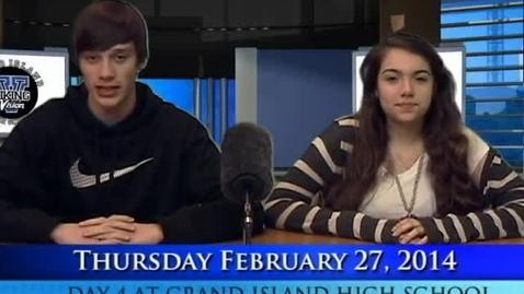 Thumbnail for entry Viking Vision News Thursday 2-27-2014