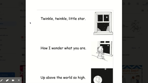 Thumbnail for entry Twinkle, Twinkle Little Star poem