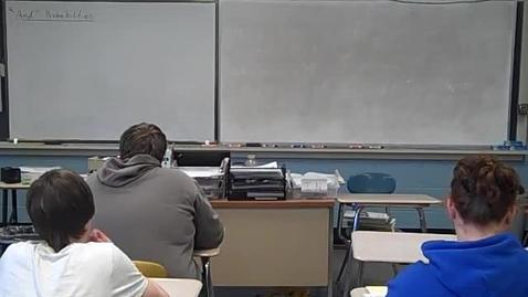 Thumbnail for entry Algebra 4-21-11 part 2