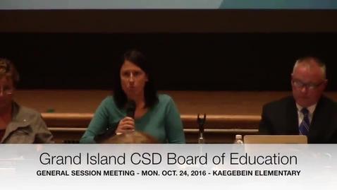 Thumbnail for entry Grand Island CSD BOE Meeting 10-24-2016