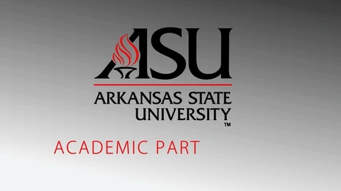 Thumbnail for entry Arkansas State Master of Education
