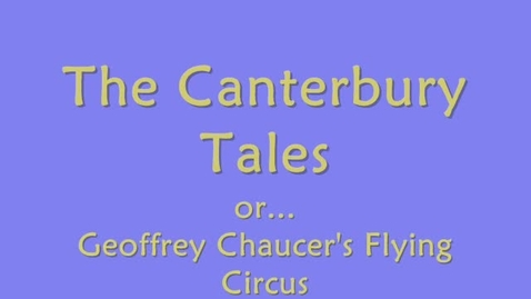 Thumbnail for entry The Canterbury Tales