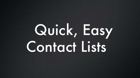 Thumbnail for entry Generating Parent Contact Groups for Gmail