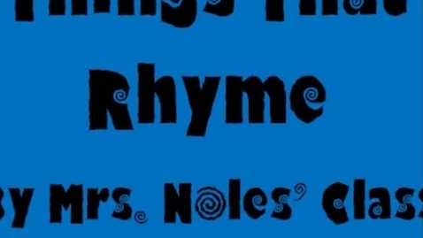 Thumbnail for entry Rhyme Time