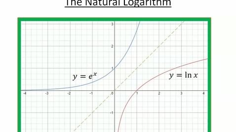 Thumbnail for entry Natural Logarithms