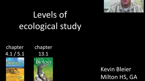 Thumbnail for entry Levels of ecological study