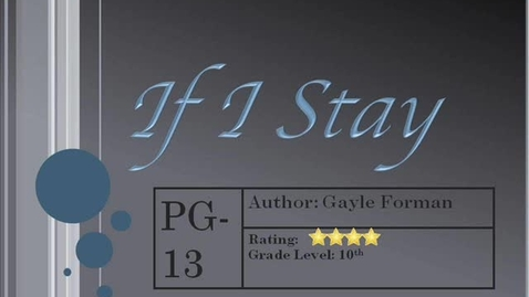 Thumbnail for entry If I Stay Book Trailer