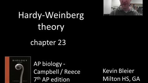 Thumbnail for entry Hardy-Weinberg theory