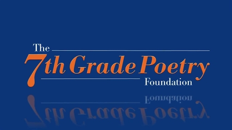 Thumbnail for entry Baker by Emily   2014 7GP 7th Grade Poetry Contest