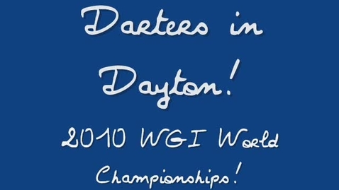 Thumbnail for entry Darters in Dayton! Days 1-2