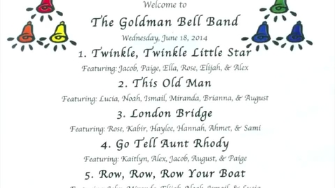 Thumbnail for entry The Goldman Bell Band 6-18-2014