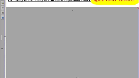 Thumbnail for entry Oxidizing & Reducing in Chemical Equations Notes