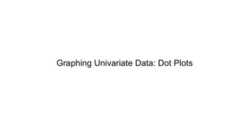Thumbnail for entry Dot Plots