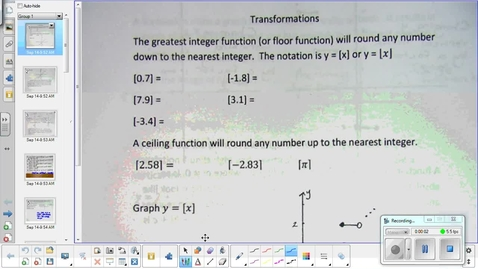 Thumbnail for entry Inverse relations and functions lesson pt 1   9-21-15