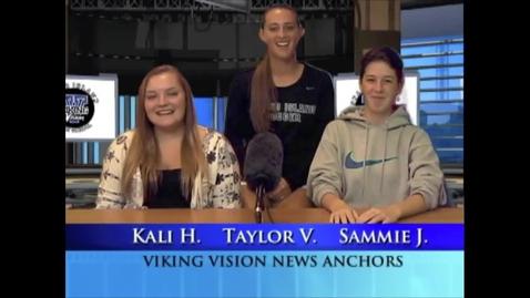 Thumbnail for entry Viking Vision News Tues 9-29-2015