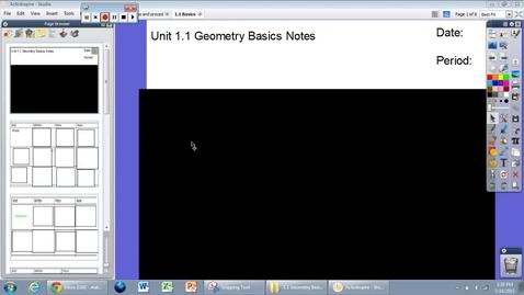 Thumbnail for entry Unit 1.1: Basics of Geometry