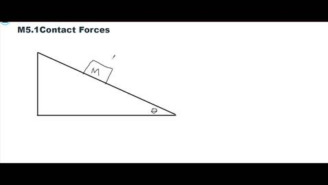 Thumbnail for entry Clip of M5.1 Forces on a Mass on a Ramp