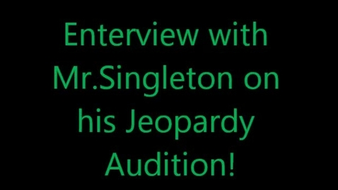 Thumbnail for entry Mr. Singleton