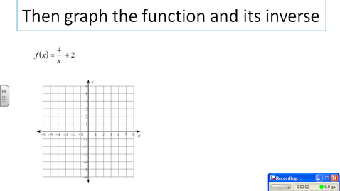 Thumbnail for entry Graphing functions and inverse