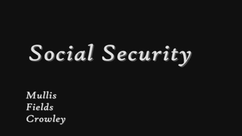 Thumbnail for entry Social Security