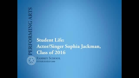 Thumbnail for entry Performing Arts Student Spotlight