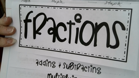 Thumbnail for entry Adding and Subtracting Fractions with positive and negative integers