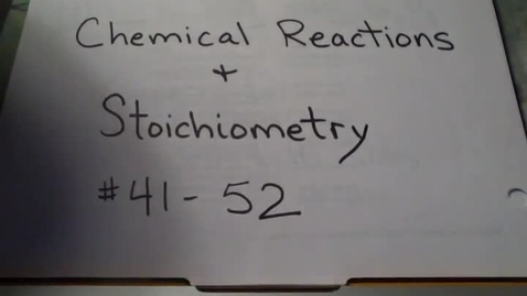 Thumbnail for entry Ladue Chem Practice Final Number 41 through 92