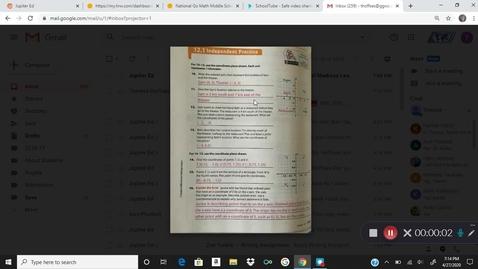 Thumbnail for entry 6 Math 4/29 Kaltura Capture recording - April 27th 2020, 7:13:58 pm