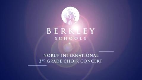 Thumbnail for entry 2013 Norup 3rd Grade Choir Concert