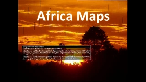 Thumbnail for entry Geography of Africa by Michaelle & Justin