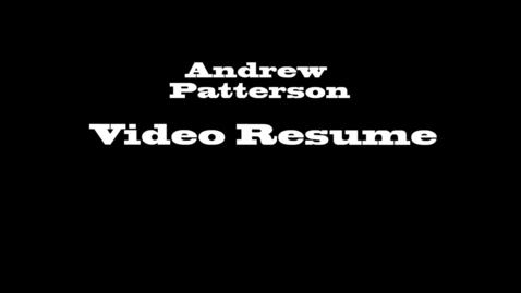 Thumbnail for entry Video Resume_19
