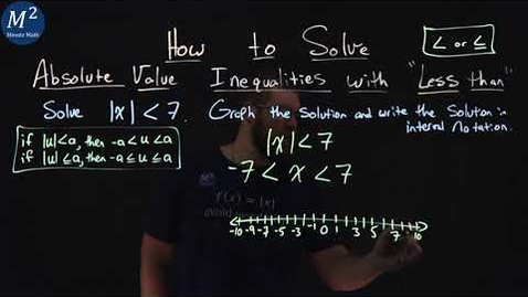 """Thumbnail for entry How to Solve Absolute Value Inequalities with """"Less Than"""" 