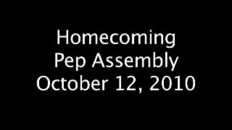 Thumbnail for entry Homecoming Pep Assembly
