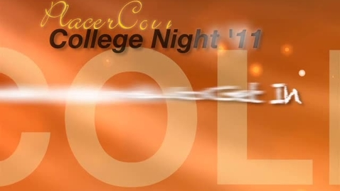 Thumbnail for entry College Night '11 - CSU & UC Application Sessions