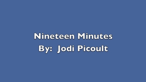 Thumbnail for entry Nineteen Minutes