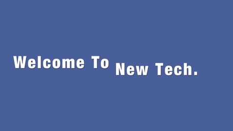 Thumbnail for entry NewTech Video