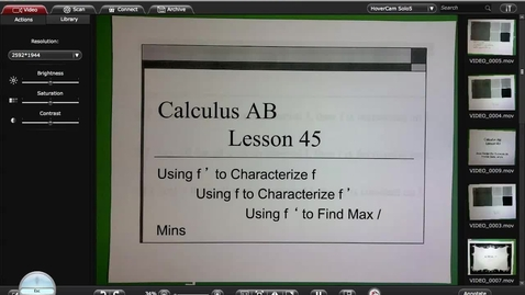 Thumbnail for entry Calc A Lesson 45