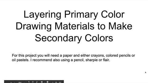 Thumbnail for entry Primary and secondary color layering tutorial