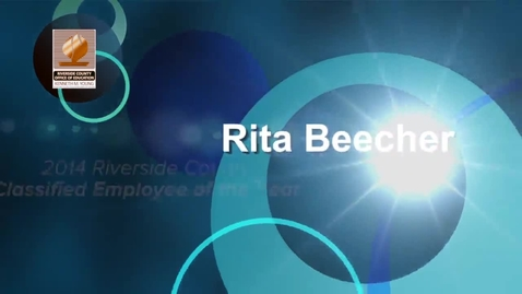 Thumbnail for entry Celebrating Educators 2014:  Rita Beecher