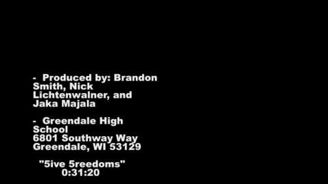 Thumbnail for entry 5 Freedoms PSA_BrandonNIckJake