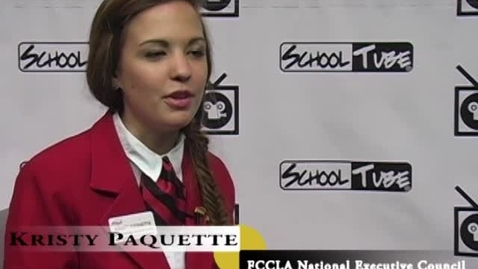 Thumbnail for entry Kristy Paquette: FCCLA National Vice President of Public Relations