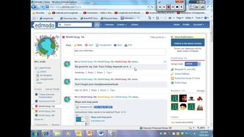 Thumbnail for entry Edmodo-settings & library